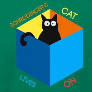 Schrodinger's Cat Lives - Men's T-Shirt by American Apparel