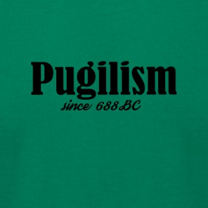 Pugilism Since 688 BC - Black Text - Men's T-Shirt by American Apparel