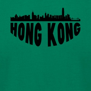 Hong Kong China Cityscape Skyline - Men's T-Shirt by American Apparel
