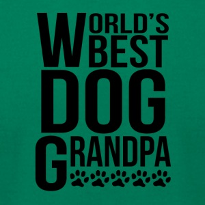 World's Best Dog Grandpa - Men's T-Shirt by American Apparel