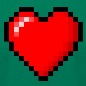 pixeled heart - Men's T-Shirt by American Apparel
