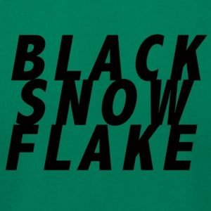 #blacksnowflake - Men's T-Shirt by American Apparel