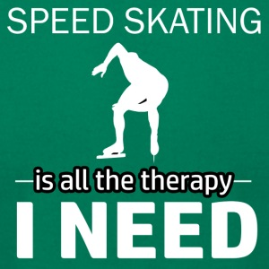 Speedskating is my therapy - Men's T-Shirt by American Apparel