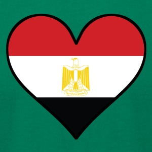 Egyptian Flag Heart - Men's T-Shirt by American Apparel