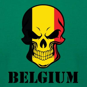 Belgian Flag Skull Belgium - Men's T-Shirt by American Apparel