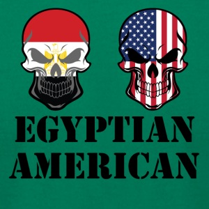 Egyptian American Flag Skulls - Men's T-Shirt by American Apparel
