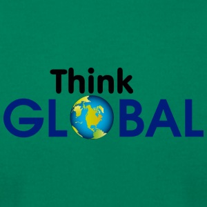 think global - Men's T-Shirt by American Apparel