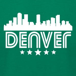 Retro Denver Skyline - Men's T-Shirt by American Apparel