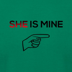 She is mine - Men's T-Shirt by American Apparel