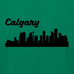 Calgary Skyline - Men's T-Shirt by American Apparel
