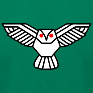 Flying Owl - Men's T-Shirt by American Apparel