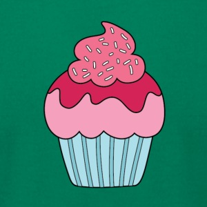 Pink Cupcake - Men's T-Shirt by American Apparel