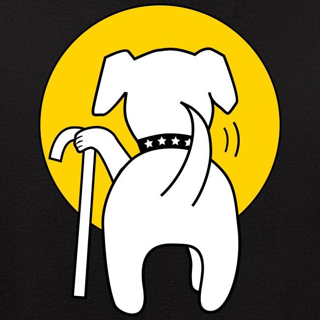 Muttville white logo and mutt butt