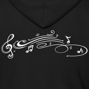 Clef with music notes, modern Tribal Tattoo Style. - Men's Zip Hoodie