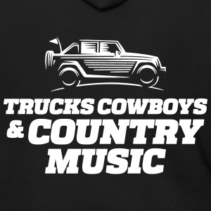 Trucks cowboys & country music - Men's Zip Hoodie