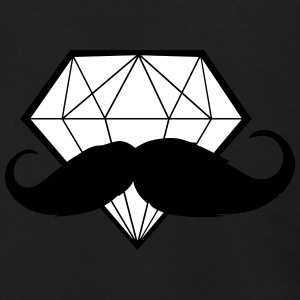 Diamond with Moustache - Hipster - Swag - Men's Zip Hoodie