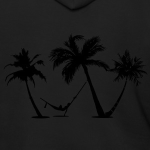 Palm trees Beach - Men's Zip Hoodie