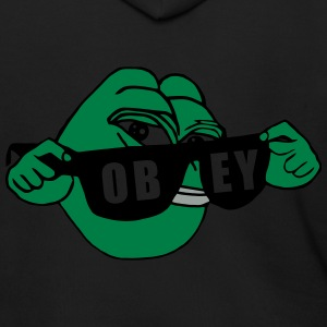 Pepe the Frog Sunglasses Obey - Men's Zip Hoodie