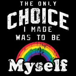The only choice I made was to be myself