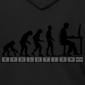 computer evolution T Shirt - Men's Zip Hoodie