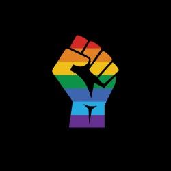 LGBTQ Raised fist