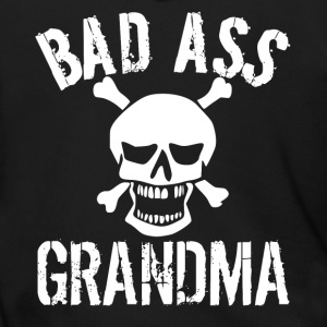 Bad Ass Grandma Skull Grandparents Day - Men's Zip Hoodie