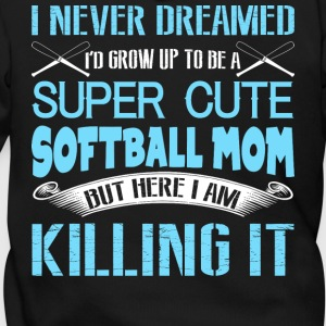 Softball Mom T Shirt - Men's Zip Hoodie