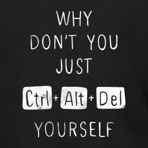 Delete Yourself T Shirt - Men's Zip Hoodie