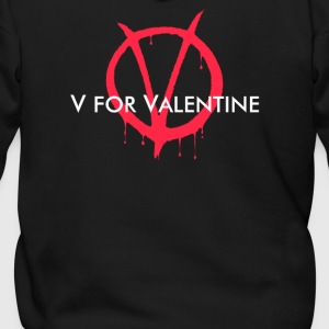 V for Valentine - Men's Zip Hoodie