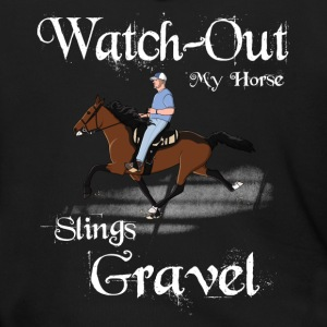 Watch out my horse Slings Gravel - Men's Zip Hoodie