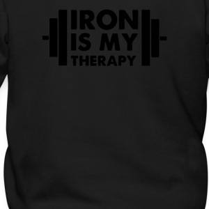 Iron is My Therapy - Men's Zip Hoodie