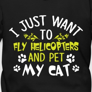 Fly Helicopters And Pet My Cat T Shirt - Men's Zip Hoodie