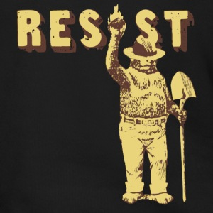 Smokey Bear Says Resist Tee Shirt - Men's Zip Hoodie
