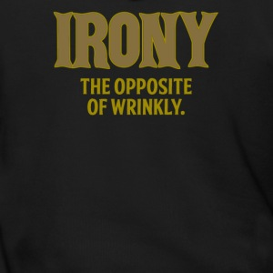 Irony the opposite of wrinkly - Men's Zip Hoodie