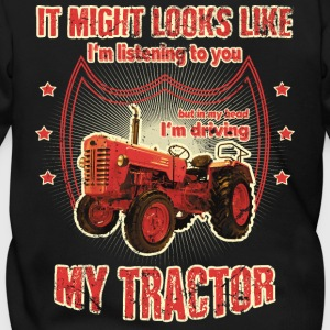 It might looks like listening driving TRACTOR red - Men's Zip Hoodie