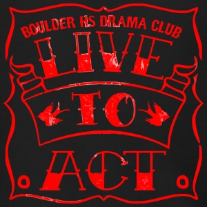 BOULDER HS DRAMA CLUB LIVE TO ACT - Men's Zip Hoodie