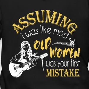 Old Women Was Your First Mistake T Shirt - Men's Zip Hoodie