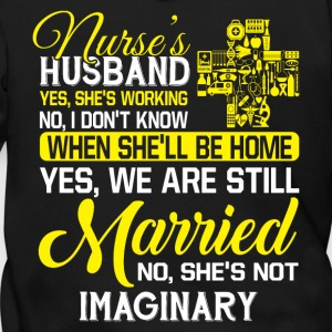 Nurse's Husband T Shirt - Men's Zip Hoodie