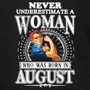 WOMAN BORN IN AUGUST SHIRT - Men's Zip Hoodie