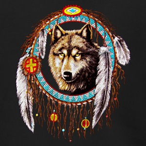 Wolf dream catcher Indian Native - Men's Zip Hoodie