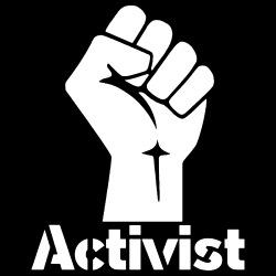 Activist Raised Fist