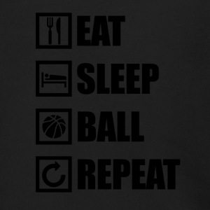 EAT SLEEP BALL REPEAT - Men's Zip Hoodie