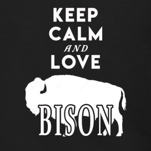 Keep Calm and Love Bison Shirt - Men's Zip Hoodie