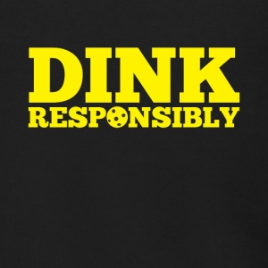 Dink Responsibly Funny Pickle Ball Tee Shirt - Men's Zip Hoodie