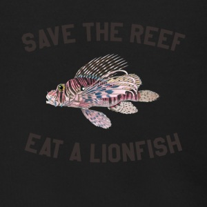 Save The Reef Eat A Lionfish - Men's Zip Hoodie