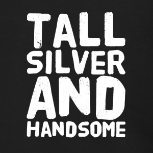 Tall silver and handsome - Men's Zip Hoodie