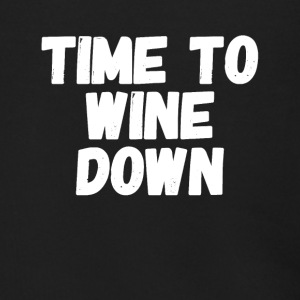 Time to wine down - Men's Zip Hoodie