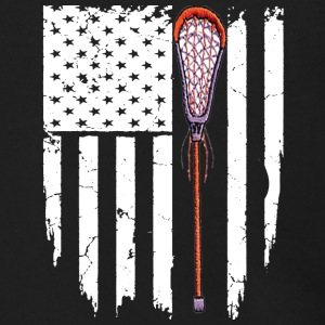 Lacrosse American Flag T-shirt - Men's Zip Hoodie
