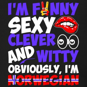 Im Funny Sexy Clever And Witty Im Norwegian - Men's Zip Hoodie