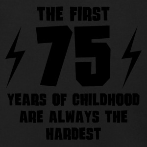 The First 75 Years Of Childhood - Men's Zip Hoodie
